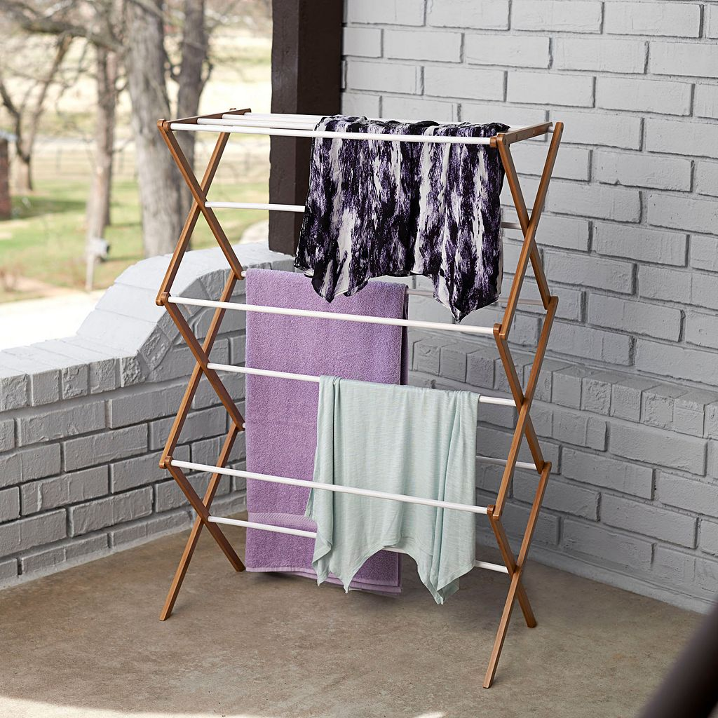 Household Essentials Indoor Outdoor Clothes Drying Rack