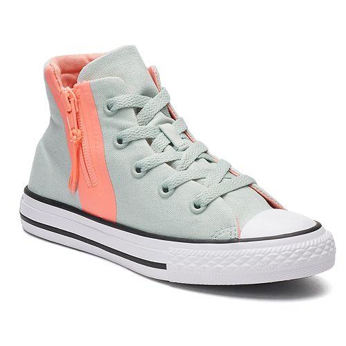 Girls  Converse Chuck Taylor All Star Sport Zip High-Top Sneakers 402491ac9