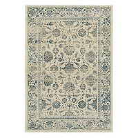StyleHaven Logan Faded Flowers Framed Rug