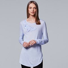 Women's Simply Vera Vera Wang Embellished Soutache Tee