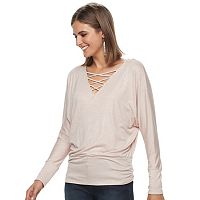 Women's Jennifer Lopez Metallic Cutout Top