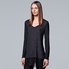 Women's Simply Vera Vera Wang Lace Trim Tunic