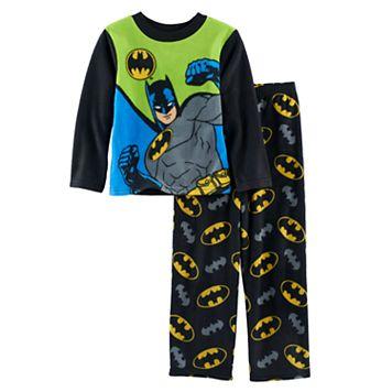 Boys 4-10 DC Comics Batman 2-Piece Fleece Pajama Set