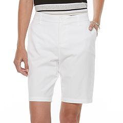 Petite Croft & Barrow® Twill Bermuda Shorts