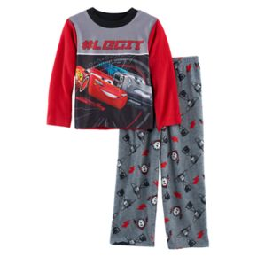Boys 4-10 Disney/Pixar Cars Fleece 2-Piece Pajama Set
