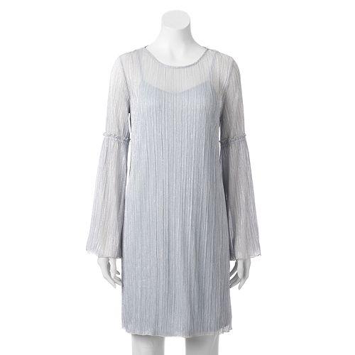 Women's LC Lauren Conrad Textured Metallic Shift Dress