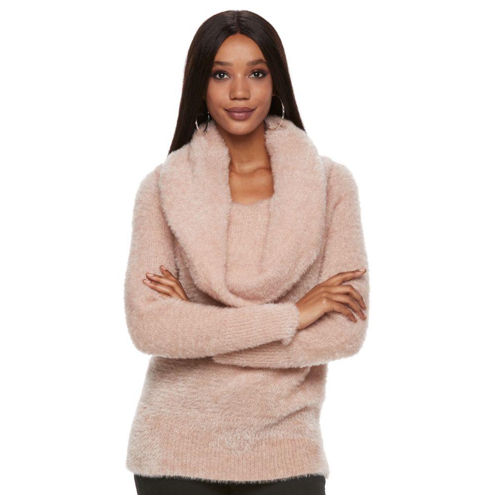 Jennifer Lopez Cowlneck Sweater