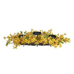 SONOMA Goods for Life™ Artificial Forsythia 3-Light Pillar Candle Holder