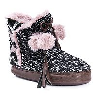 Women's MUK LUKS Paloma Knit Pom Pom Boot Slippers