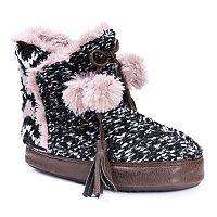 Women's MUK LUKS Paloma Knit Pom Pom Boot Slippers