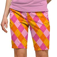Women's Loudmouth Raspberry Surebet Bermuda Golf Short