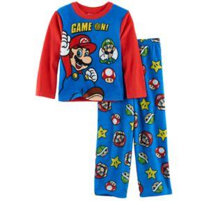Boys 4-10 Super Mario Bros. 2-Piece Fleece Pajama Set