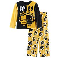 Boys 4-10 Despicable Me Minion Spies 2-Piece Pajama Set