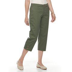 Petite Croft & Barrow® Essential Twill Capri Pants