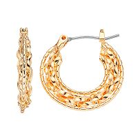 Napier Braided Nickel Free Hoop Earrings