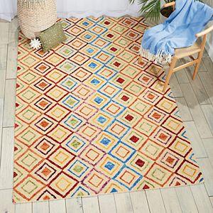 Nourison Vivid Geometric Wool Rug