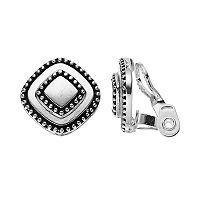 Napier Tiered Square Nickel Free Clip On Earrings