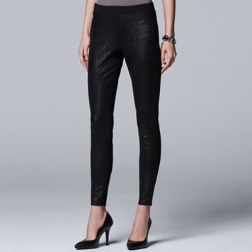 Women's Simply Vera Vera Wang 10th Anniversary Faux Leather Legging