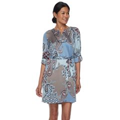 Women's Dana Buchman Satin Shirtdress