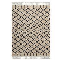 Nourison Moroccan Marrakesh Lattice I Shag Rug