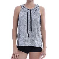 Women's Marika Britney Cross Back Sleeveless Hoodie