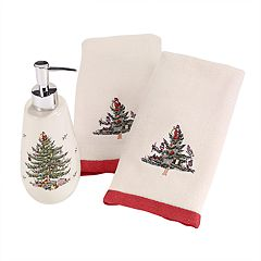 Avanti 3-piece Spode Tree Fingertip Towel & Soap Pump Set