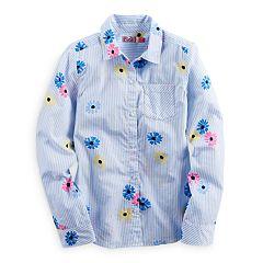 Girls 7-16 & Plus Size SO® Tie Front Plaid Button-Down Shirt