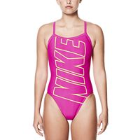 Women's Nike Performance Logo Racerback One-Piece Swimsuit