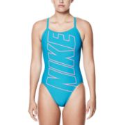 Women's Nike Performance Logo Racerback One-Piece Swimsuit