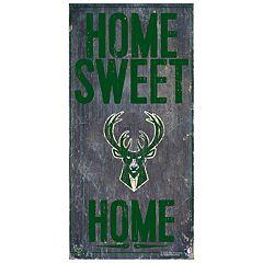 Milwaukee Bucks Home Sweet Home Wall Art