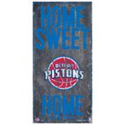 Detroit Pistons Home Sweet Home Wall Art