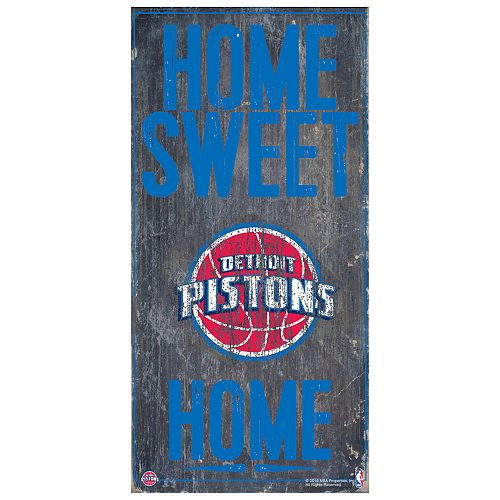 Detroit Pistons Home Sweet Home Wall Art
