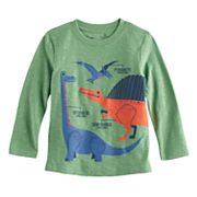 Toddler Boy Jumping Beans® Dinosaur Slubbed Long Sleeve Graphic Tee