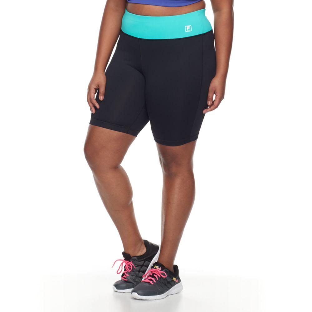 size fila sport® high-waist bike shorts
