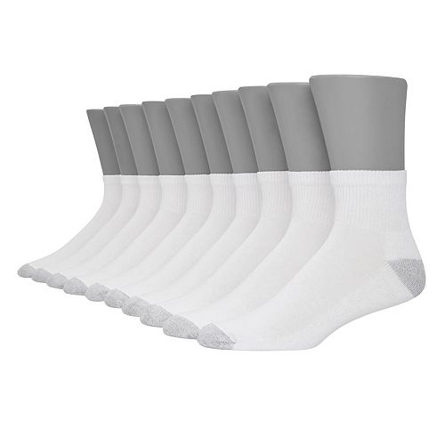 Men's Hanes Ultimate 10-pack Fresh IQ Quarter Socks