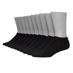 Men's Hanes Ultimate 10-pack Fresh IQ Low-Cut Socks