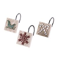 Avanti Holiday Words Shower Curtain Hooks