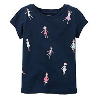 Toddler Girl Carter's Short-Sleeve Embellished Graphic Tee