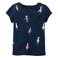 Toddler Girl Carter's Short-Sleeve Embellished Graphic Tee