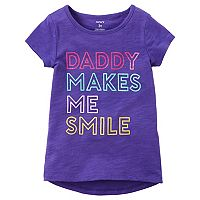 Toddler Girl Carter's Short-Sleeve Graphic Slubbed Tee