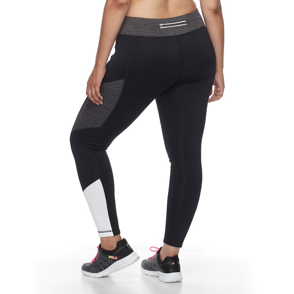 Plus Size FILA SPORT® Colorblocked Fleece Leggings