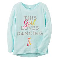 Toddler Girl Carter's Long-Sleeve Graphic Slubbed Tee