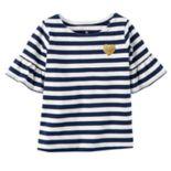 Toddler Girl Carter's Striped Bell-Sleeve Tee