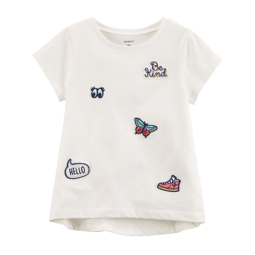 Toddler Girl Carter's Short-Sleeve Patch Tee
