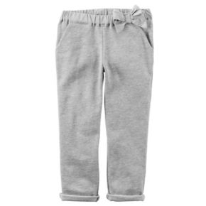 Toddler Girl Carter's Bow French Terry Pants