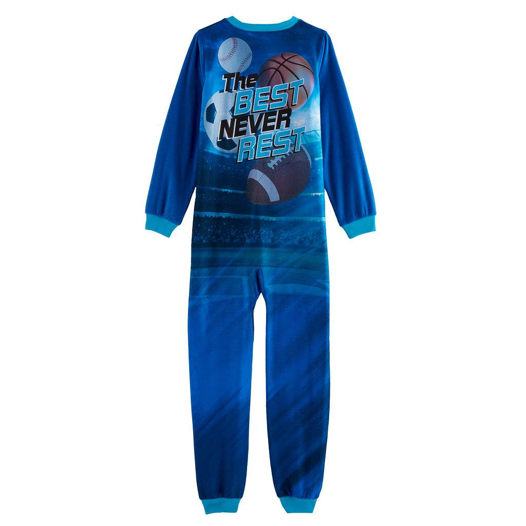 Boys 4-16 Jellifish Fleece One-Piece Pajamas