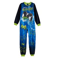 Boys 4-16 Jelli Fish Fleece One-Piece Pajamas
