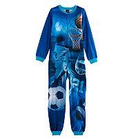 Boys 4-16 Jelli Fish Fleece One-Piece Pajamas