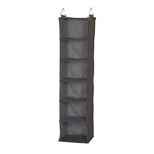 Household Essentials 6-Shelf Hanging Closet Organizer
