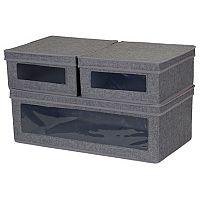 Household Essentials 3 pc Vision Storage Box Set
